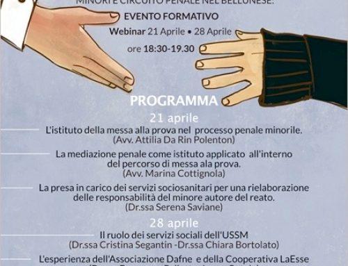 Evento: I progetti di messa alla prova nel processo penale minorile (21/4)
